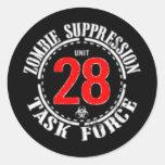 Zombie Task Force Classic Round Sticker