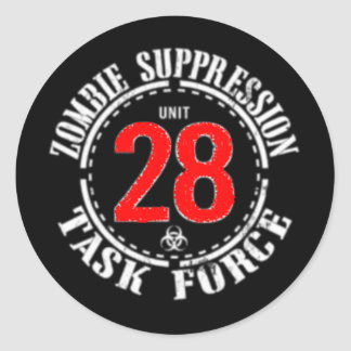 Zombie Task Force Classic Round Sticker
