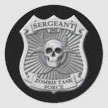 Zombie Task Force - Sergeant Badge Classic Round Sticker