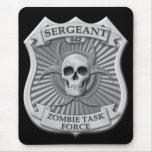 Zombie Task Force - Sergeant Badge Mousepad