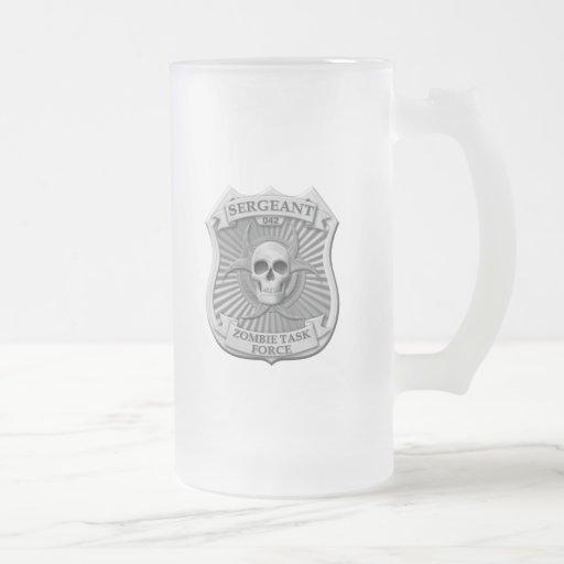 Zombie Task Force - Sergeant Badge Mugs