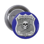 Zombie Task Force - Sergeant Badge Pinback Buttons