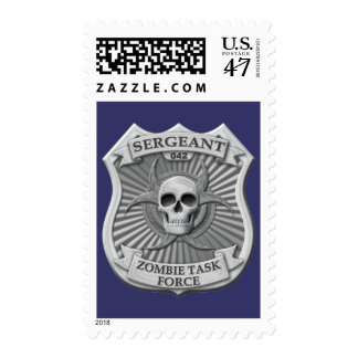 Zombie Task Force - Sergeant Badge Postage