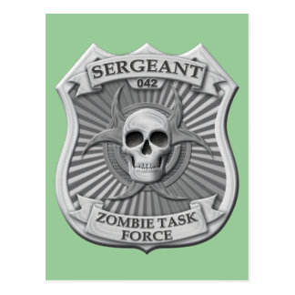 Zombie Task Force - Sergeant Badge Postcard