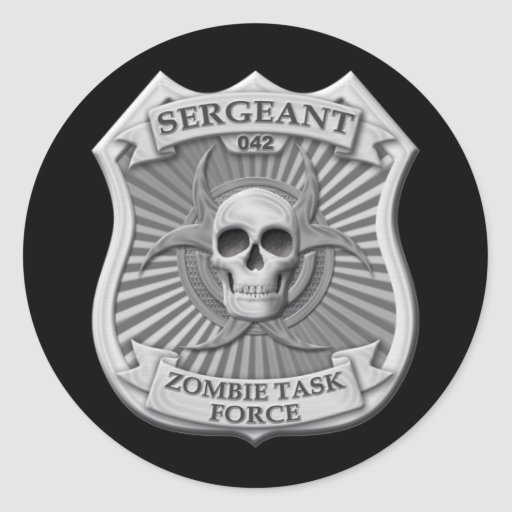 Zombie Task Force - Sergeant Badge Stickers