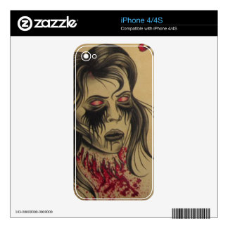Zombie Tatto Iphone Skin iPhone 4S Decal