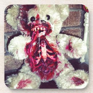 zombie teddy bear beverage coaster