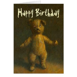 Zombie Teddy Bear Birthday Card
