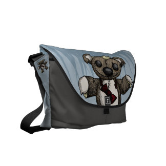 Zombie Teddy Bear Messenger Bag
