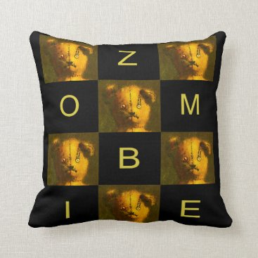 Zombie  Teddy Throw Cushion