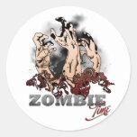 Zombie Time Etiquetas Redondas