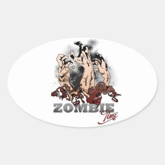 Zombie Time Oval Sticker