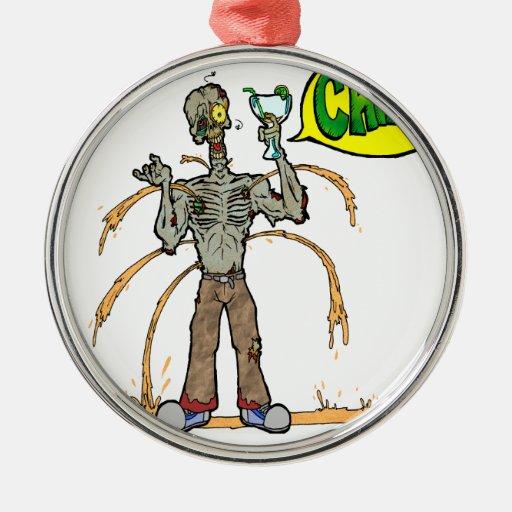 Zombie Toast Metal Ornament