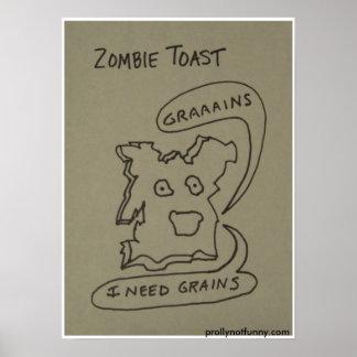 Zombie Toast Poster