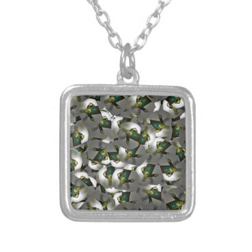 Halloween Themed zombie toy design Halloween gifts Silver Plated Necklace