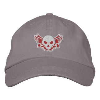 Zombie Track Club Red Embroidered Baseball Hat