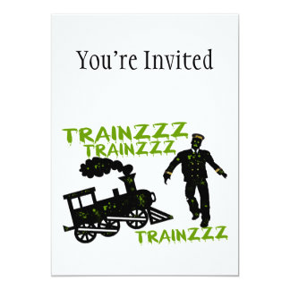 Zombie Train Conductor Card