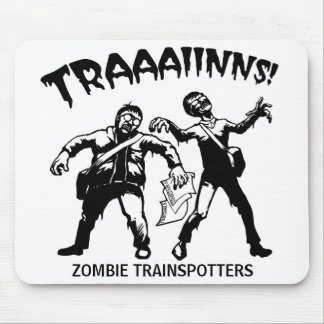 Zombie Trainspotters Mouse Pad