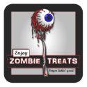 Zombie Treats 1 Stickers                                        & Buttons sticker