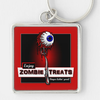 Zombie Treats 1 Stickers & Buttons Keychain