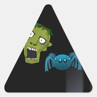 zombie triangle sticker