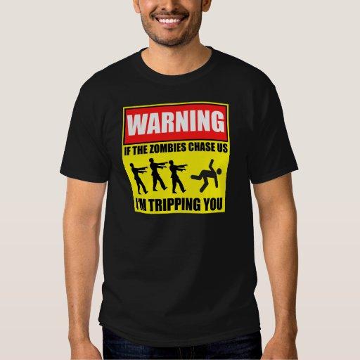Zombie Trip Warning Sign Shirts
