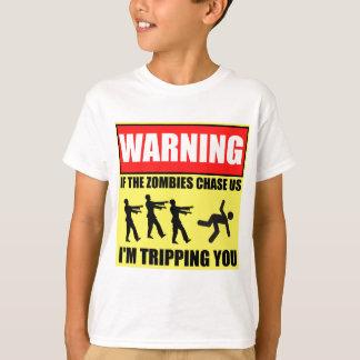 Zombie Trip Warning Sign T-Shirt