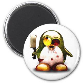 Zombie Tux (Linux Tux) 2 Inch Round Magnet