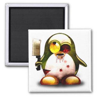 Zombie Tux (Linux Tux) 2 Inch Square Magnet