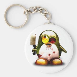Zombie Tux (Linux Tux) Basic Round Button Keychain
