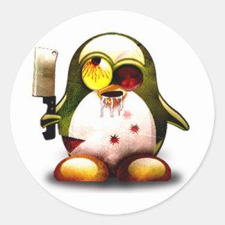 Zombie Tux (Linux Tux) Classic Round Sticker
