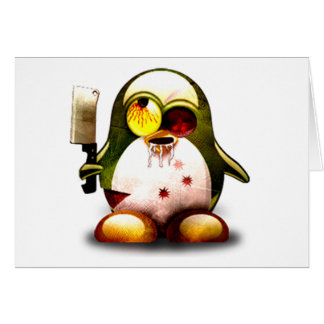 Zombie Tux (Linux Tux) Greeting Card
