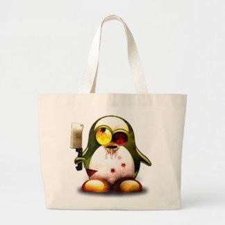 Zombie Tux (Linux Tux) Jumbo Tote Bag