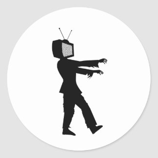 Zombie TV Classic Round Sticker