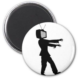 Zombie TV Guy by Chillee Wilson 2 Inch Round Magnet