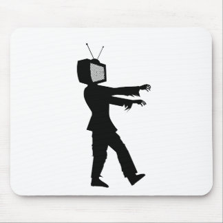 Zombie TV Guy by Chillee Wilson Mouse Pad