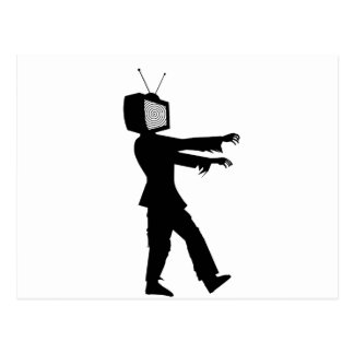 Zombie TV Guy by Chillee Wilson Postcard