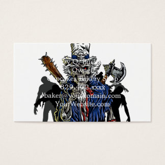 Zombie Uncle Sam Business Card