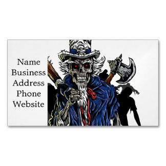 Zombie Uncle Sam Business Card Magnet