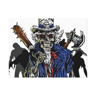 Zombie Uncle Sam Canvas Print