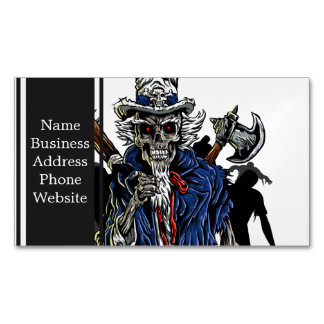 Zombie Uncle Sam Magnetic Business Card