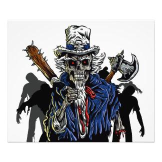 Zombie Uncle Sam Photo Print