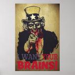 Zombie Uncle Sam Print