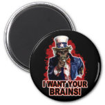 Zombie Uncle Sam Refrigerator Magnets
