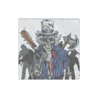 Zombie Uncle Sam Stone Magnet
