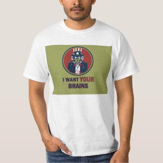 Zombie uncle sam t shirt
