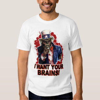 Zombie Uncle Sam Tee Shirt