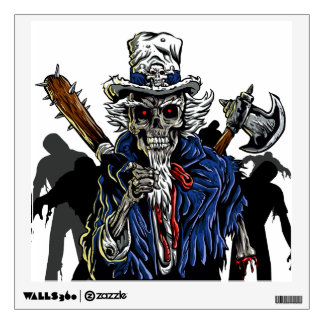 Zombie Uncle Sam Wall Sticker