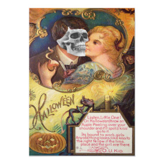 Zombie Undead Kissing Jack O Lantern Collage Card