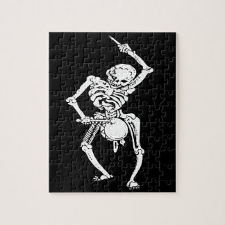 Zombie Undead Skeleton Marching and Beating A Drum Jigsaw Puzzle